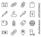 flat vector icon set   shop... | Shutterstock .eps vector #1031655661