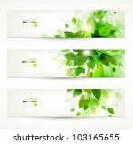 Set Of Three Banners With Fres...