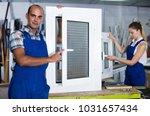 portrait of  happy male worker... | Shutterstock . vector #1031657434