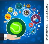 sport flat icon concept. vector ... | Shutterstock .eps vector #1031658259