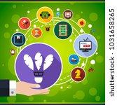 sport flat icon concept. vector ... | Shutterstock .eps vector #1031658265
