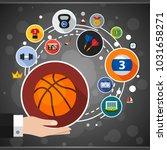 sport flat icon concept. vector ... | Shutterstock .eps vector #1031658271