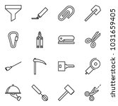 flat vector icon set   funnel... | Shutterstock .eps vector #1031659405