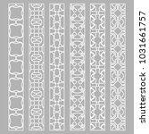 vector set of line borders with ... | Shutterstock .eps vector #1031661757
