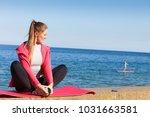 woman resting relaxing after... | Shutterstock . vector #1031663581