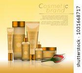 vector 3d cosmetic illustration ... | Shutterstock .eps vector #1031668717