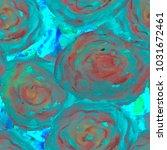 fantastic floral pattern. big...   Shutterstock . vector #1031672461