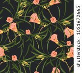 seamless tropical flower...   Shutterstock .eps vector #1031672665