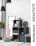 cozy room interior with... | Shutterstock . vector #1031675275