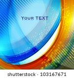 abstract wavy vector design... | Shutterstock .eps vector #103167671