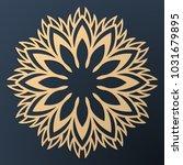 laser cutting mandala. golden... | Shutterstock .eps vector #1031679895