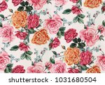 Stock photo watercolor floral pattern 1031680504