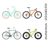 set of four bicycles for... | Shutterstock .eps vector #1031681554
