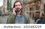 close up portrait of hipster... | Shutterstock . vector #1031682229
