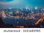 chongqing night scene | Shutterstock . vector #1031685985