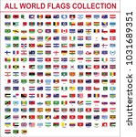 all world flags vector | Shutterstock .eps vector #1031689351