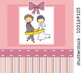 wedding invitation | Shutterstock .eps vector #103169105