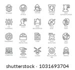20 icons of virtual protection  ... | Shutterstock .eps vector #1031693704