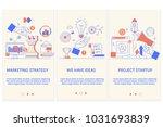 marketing strategy. business... | Shutterstock .eps vector #1031693839