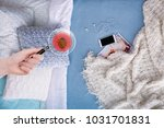woman with magnifying glass... | Shutterstock . vector #1031701831