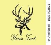 deer logo template vector...   Shutterstock .eps vector #1031702821