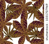seamless exotic pattern with...   Shutterstock .eps vector #1031707969