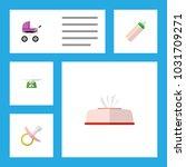 icon flat infant set of... | Shutterstock .eps vector #1031709271