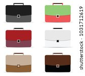 briefcase icon in different... | Shutterstock .eps vector #1031712619