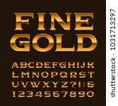 gold alphabet font. luxury... | Shutterstock .eps vector #1031713297
