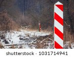 border poles of poland and... | Shutterstock . vector #1031714941