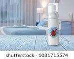 bottle of anti bed bug... | Shutterstock . vector #1031715574