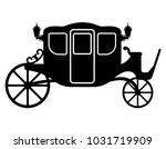 royal carriage for... | Shutterstock .eps vector #1031719909
