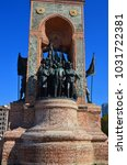 Small photo of ISTANBUL TURKEY OCTOBER 07: Independence Monument commemorating Kemal Ataturk and the founding of the Turkish Republic (1923) Taksim Square in Istanbul Turkey on october 07 2013