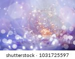 sparkling bsparkling bokeh with ... | Shutterstock . vector #1031725597