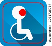 sign of disability on the blue... | Shutterstock .eps vector #1031725789