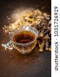 ayurvedic herb liquorice root... | Shutterstock . vector #1031726929