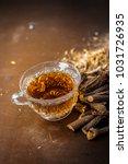 ayurvedic herb liquorice root... | Shutterstock . vector #1031726935