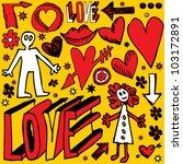 love scrolls | Shutterstock .eps vector #103172891