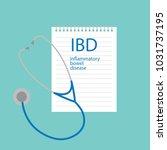 ibd inflammatory bowel disease... | Shutterstock .eps vector #1031737195