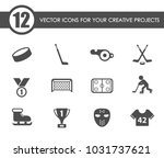 hockey vector icons for your... | Shutterstock .eps vector #1031737621