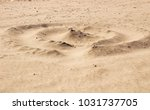 sand texture and spiral shaped... | Shutterstock . vector #1031737705