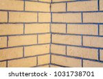 the plastered and painted brick ... | Shutterstock . vector #1031738701