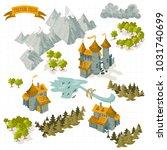 fantasy adventure map elements...   Shutterstock .eps vector #1031740699