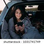 beautiful smiling caucasian... | Shutterstock . vector #1031741749