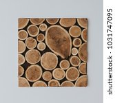 creative layout made of wood... | Shutterstock . vector #1031747095