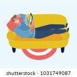 vector cartoon illustration of... | Shutterstock .eps vector #1031749087