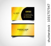 golden luxury business card... | Shutterstock .eps vector #1031757547