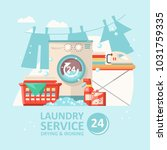 laundry service vector... | Shutterstock .eps vector #1031759335