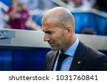 Small photo of VITORIA, SPAIN - SEPTEMBER 23, 2017: Zinedine Zidane, Real Madrid coach, in action during a Spanish League match between Alaves and Real Madrid