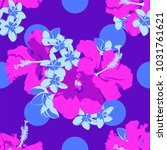 seamless ultraviolet hawaiian... | Shutterstock .eps vector #1031761621